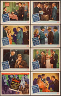 "Movie Posters:Crime, Crime, Inc. (PRC, 1945). Lobby Card Set of 8 (11"" X 14""). Crime..... (Total: 8 Items)"