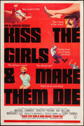 "Movie Posters:Action, Kiss the Girls and Make Them Die (Columbia, 1966). Poster (40"" X60""). Action.. ..."