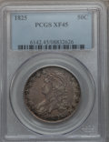 Bust Half Dollars: , 1825 50C XF45 PCGS. PCGS Population (167/823). NGC Census:(111/789). Mintage: 2,900,000. Numismedia Wsl. Price for problem...