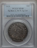 Bust Half Dollars: , 1828 50C Square Base 2, Small 8, Large Letters XF40 PCGS. PCGSPopulation (75/417). NGC Census: (18/191). ...