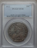 Bust Half Dollars: , 1822 50C VF30 PCGS. PCGS Population (37/705). NGC Census: (21/710).Mintage: 1,559,573. Numismedia Wsl. Price for problem f...