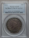 Bust Half Dollars: , 1828 50C Square Base 2, Small 8, Large Letters XF45 PCGS. PCGSPopulation (87/330). NGC Census: (22/169). ...