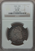 Bust Half Dollars: , 1824 50C XF40 NGC. O-108a. NGC Census: (64/726). PCGS Population(89/716). Mintage: 3,504,954. Numismedia Wsl. Price for p...