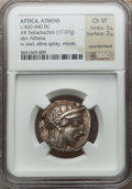 Ancients:Greek, Ancients: ATTICA. Athens. Ca. 460-440 BC. AR Tetradrachm (17.07gm). ...