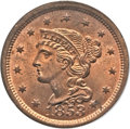 Large Cents, 1853 1C MS65 Red PCGS. N-10, R.1....