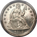 Proof Seated Dimes, 1858 10C PR64+ Cameo PCGS....