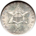 Three Cent Silver, 1855 3CS MS65 NGC. CAC....