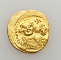 Ancients:Byzantine, Ancients: Heraclius, with Heraclius Constantine (AD 610-641). AVsolidus (4.40 gm)....