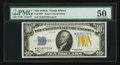 Small Size:World War II Emergency Notes, Fr. 2309* $10 1934A North Africa Silver Certificate. PMG About Uncirculated 50.. ...