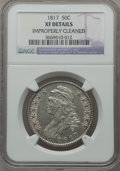 Bust Half Dollars: , 1817 50C -- Improperly Cleaned -- NGC Details. XF. NGC Census:(39/320). PCGS Population (74/376). Mintage: 1,215,567. Numi...