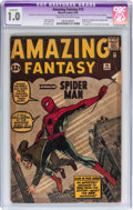 Silver Age (1956-1969):Superhero, Amazing Fantasy #15 Trimmed (Marvel, 1962) CGC Apparent FR 1.0 Cream to off-white pages....