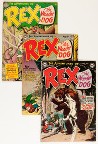 Adventures of Rex the Wonder Dog Group (DC, 1953-57) Condition: Average GD.... (Total: 5 Comic Books)