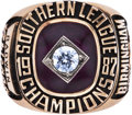 Baseball Collectibles:Others, 1987 Birmingham Barons Southern League Championship Ring....