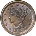 Large Cents, 1848 1C MS66 Brown NGC. N-2, High R.1....