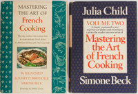 Julia Child. SIGNED/INSCRIBED. Group of Two. New York: Alfred A. Knopf. Both copies signed and inscribed on title