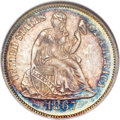 Seated Dimes, 1867 10C MS66 NGC. Fortin-101....