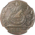 Colonials, 1787 1C Fugio Cent, UNITED STATES, Cinquefoils MS63 Brown NGC. N.11-B, W-6785, R.4....