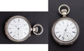 Timepieces:Pocket (pre 1900) , Alber Montandon Chronometer & D.W. Co. Key Wind Pocket Watches Runners. ... (Total: 2 Items)
