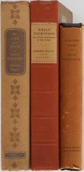 Books:Literature 1900-up, [Emily Dickinson]. Various Authors. Group of Three. Variouspublishers. One early volume of Dickinson's previously unpublish...(Total: 3 Items)