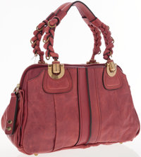 Chloe Raspberry Heloise Small Shoulder Bag with Gold Hardware