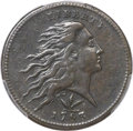 Large Cents, 1793 1C Wreath Cent, Vine and Bars -- Tooled -- PCGS Genuine. XFDetails. S-8, B-13, R.3....