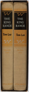 Books:Americana & American History, [Texana]. Tom Lea. The King Ranch. Two Volumes. Boston:Little, Brown and Co., 1957. Publisher's binding and slip ca...(Total: 2 Items)
