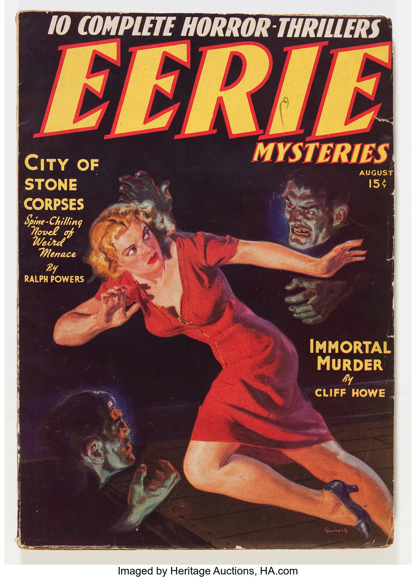 Eerie Mysteries V1 1 Magazine Publishers Inc 1938 Condition Lot 13442 Heritage Auctions