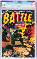 Golden Age (1938-1955):War, Battle #35 (Marvel, 1954) CGC FN 6.0 Off-white to white pages....