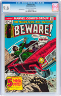 Bronze Age (1970-1979):Horror, Beware #2 (Marvel, 1973) CGC NM+ 9.6 Off-white to white pages....