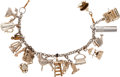 "Movie/TV Memorabilia:Costumes, A Carroll Baker Charm Bracelet from ""Baby Doll.""..."