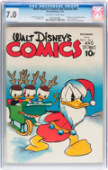 Golden Age (1938-1955):Cartoon Character, Walt Disney's Comics and Stories #39 (Dell, 1943) CGC FN/VF 7.0Off-white to white pages....