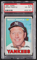 Baseball Cards:Singles (1960-1969), 1967 Topps Mickey Mantle #150 PSA VG-EX 4....