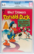 Golden Age (1938-1955):Funny Animal, Four Color #203 Donald Duck (Dell, 1948) CGC FN+ 6.5 Off-whitepages....