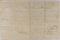 Autographs:Non-American, [Warren Hastings]. East India Company Appointment Signed....