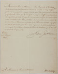 Autographs:Non-American, Frederic Guillaume III Letter Signed....