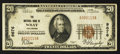 National Bank Notes:Colorado, Wray, CO - $20 1929 Ty. 1 The NB of Wray Ch. # 9676. ...