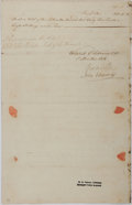 Autographs:Non-American, [William W. Grenville]. Baron of Grenville Document Signed....