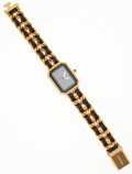 Luxury Accessories:Accessories, Chanel Premiere Ladies Watch with Classic Gold Chain and Leather Strap Size L. ...