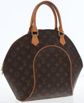 Luxury Accessories:Bags, Louis Vuitton Classic Monogram Canvas Ellipse MM Top Handle Bag. ...