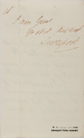 Autographs:Non-American, [Robert Jenkinson]. Lord Liverpool Autograph Letter Signed....
