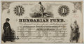 Autographs:Non-American, [Louis Kossuth]. Hungarian Fund One Dollar Blanknote....