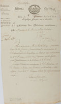 Autographs:Military Figures, Charles Maurice de Talleyrand Document Signed....