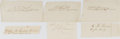 Autographs:Military Figures, [Civil War]. Group of Six Clipped Signatures... (Total: 6 Items)