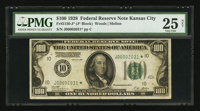 Fr. 2150-J* $100 1928 Federal Reserve Note. PMG Very Fine 25 Net