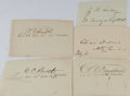 Autographs:Military Figures, [Civil War]. Group of Five Clipped Signatures... (Total: 5 Items)