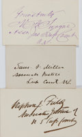 Autographs:Statesmen, [Roger B. Taney Court]. Group of Three Signatures... (Total: 3Items)
