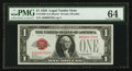 Small Size:Legal Tender Notes, Low Serial Number A00000789A Fr. 1500 $1 1928 Legal Tender Note. PMG Choice Uncirculated 64.. ...