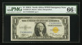 Small Size:World War II Emergency Notes, Fr. 2306 $1 1935A North Africa Silver Certificate. F-C Block. PMG Gem Uncirculated 66 EPQ.. ...