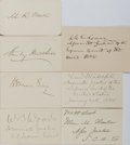 Autographs:Statesmen, [Morrison R. Waite Supreme Court]. Group of Seven Signatures...(Total: 7 Items)