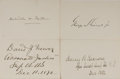 Autographs:Statesmen, [Melville Fuller Court]. Group of Four Signatures... (Total: 4Items)